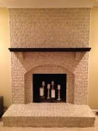painted brick. Like the candle display inside especially if a faux fireplace .