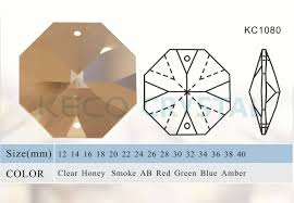 crystal chandelier parts octagon beads kc1080