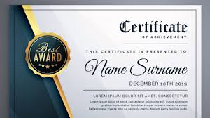Certificate Template Psd Modern Free Download Gift Photoshop