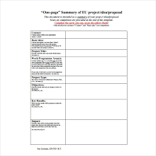 How To Write A One Page Proposal Templates Pdf Word