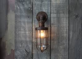 caged lighting. Obere Caged Outdoor Light - Rust Lighting