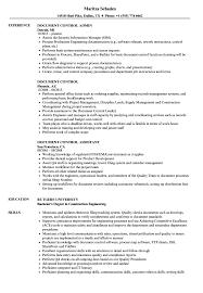 Job Profile Of Document Controller Document Control Resume Samples Velvet Jobs