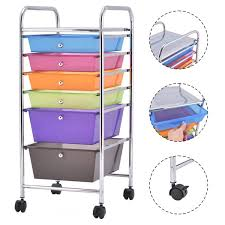 office rolling cart. Costway 6 Drawer Rolling Storage Cart Tools Scrapbook Paper Office School Organizer 0 E