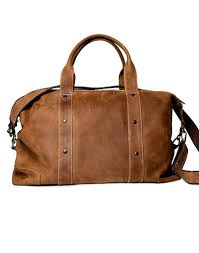 home full grain leather duffle bag