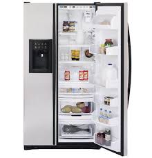 ge profile arctica refrigerator. GE Profile Arctica CustomStyle™ 22.6 Cu. Ft. Stainless Side-By-Side Refrigerator | PSC23SGNBS Appliances Ge B