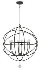 6 light english bronze industrial chandelier dd in clear glass drops 9228 eb elite fixtures