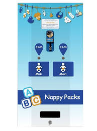 Washroom Vending Machines Beauteous Electronic Baby Nappy Dual Vending Machine Silver Nappy Vend