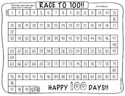 Race To 100 A 100 Days Of School Freebie 100 Days Of