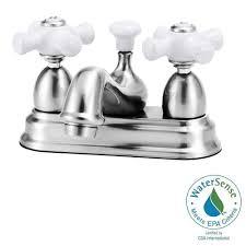 Cross Handle Bathroom Faucet Elizabethan Classics Bradsford 4 In 2 Handle Bathroom Faucet In
