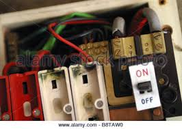 electrical fuse in old house stock photo 278652553 alamy consumer unit box electrical fuse box old wire fuse type in a 1970 s house stock