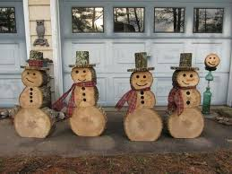 if you re cutting some trees this fall than save some round and make snowmen