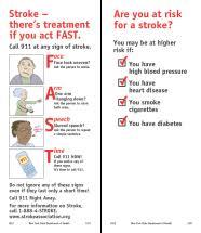 stroke signs and symptoms pdf