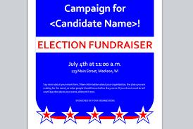 political fundraiser invite political campaign budget template