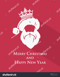 Santa Claus Crown Template Vector Illustration Stock Vector