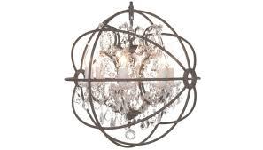 chandelier orb crystal chandeliers light inside spherical view 9