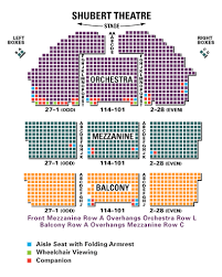 Snapple Theater Seating Chart Shubert Theater Seating Guide To Kill A Mockingbird Tickpick