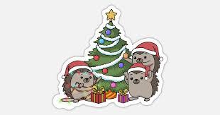 christmas hedgehog kids christmas tree