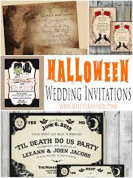 Halloween Wedding Invitations Spooktacular Halloween Wedding Invitations Glitter N Spice