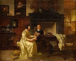 Albert Adamo(1849 - 1887)-Ein gutes Glas Wein   Painting, Old ...