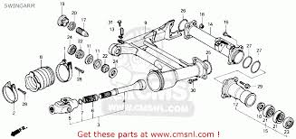 honda trx250 fourtrax 250 1985 (f) usa swingarm schematic partsfiche 1986 trx250r wiring diagram at Honda Trx 250 Wiring Diagram