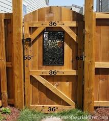 Interesting Wood Fence Gate Plans Diy Building Instructions Including With Inspiration