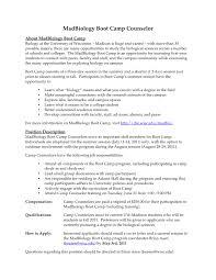 Summer Camp Counselor Resume - Roddyschrock.com