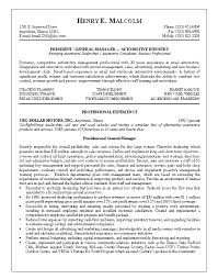 Sample Resume General Manager