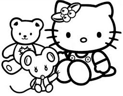 Hello kitty valentines day coloring page. Free Printable Hello Kitty Coloring Pages For Kids
