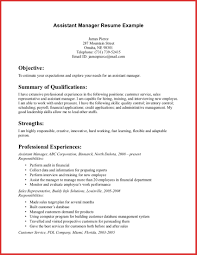 Assistant Manager Job Description For Resume Luxury assistant Manager Skills Resume excuse letter 21
