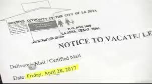 La Joya Tenant Upset Eviction Notice Was Delivered Late
