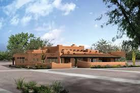 Southwestern House Plans   Houseplans comAdobe   Southwestern Exterior   Front Elevation Plan       Houseplans com