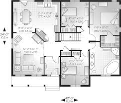 floor plan of a one story house.  Plan Traditional House Plan First Floor  032D0104  Plans And More Inside Of A One Story 6