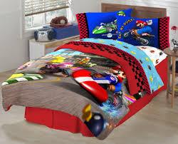 simple kids bedroom with fresh look kids comforter and super mario full bedding set bedroom