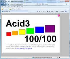 did internet explorer 8 just p the acid3 test no it s the chrome frame