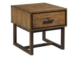 Image Furniture Kincaid Furniture Traversewoodworker Drawer End Table Hudsons Furniture Kincaid Furniture Traverse 660915 Woodworker Modern Craftsman End