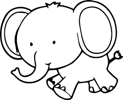 Very Cute Small Elephant Coloring Page | Wecoloringpage