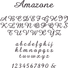 script font styles for names