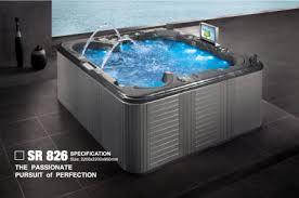 jacuzzi spa bathtub with led tv dvd