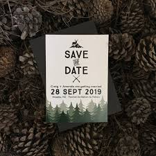Winter Wedding Save The Date Hunting In The Woods Save The Date Be My Guest