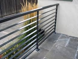 Small Picture Interior Modern Grey Metal Balcony Railing With Stoned Floor Also