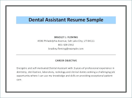 Dental Assistant Resume Samples Resume Template Dental Assistant