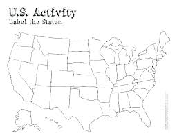United States Map Coloring Page Map Coloring Page United States Map