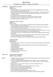 Town Planner Resume Samples Velvet Jobs