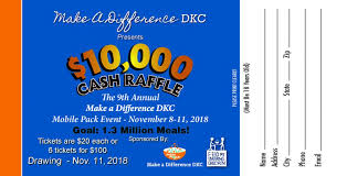 Cash Raffles Cash Raffle Fundraiser Make A Difference Dekalb County