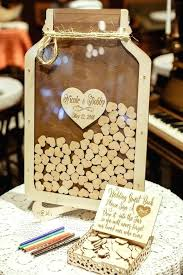 diy heart shadow box guest book personalized names date wedding mason jar drop