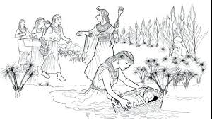 Baby Moses Coloring Pages Baby Coloring Page With Baby Coloring Page