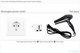 bringing your hair dryer to norway 220 Volt Wiring Diagram how to use a hair dryer in norway using a type f power adapter