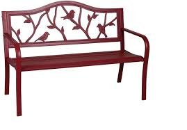 patio furniture color finish red manufacturer color finish red seating capacity 2 primary material metal wood species n a metal type steel