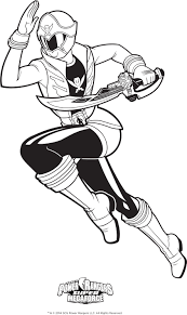 Power Rangers Coloring Page Super Megaforce