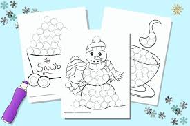 Free, printable coloring book pages, connect the dot pages and color by numbers pages for kids. Free Printable Winter Do A Dot Marker Pages The Artisan Life